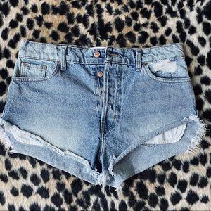 REVICE denim cutoff shorts